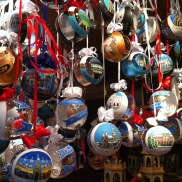 Hand-painted glass ornaments. We got the Wiener Staatsoper for our tree this year.