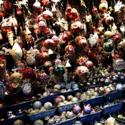 So many glass ornaments to choose from. It is so beautiful!