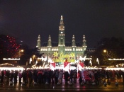 Christmas Markets in Vienna, Austria; Rathaus
