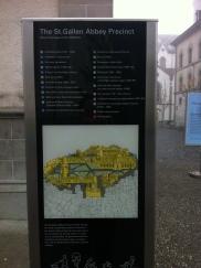 Map of St. Gallen Abbey
